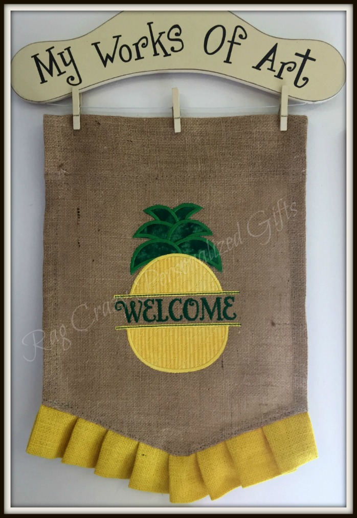 Burlap Garden Flag - Pineapple Welcome Flag