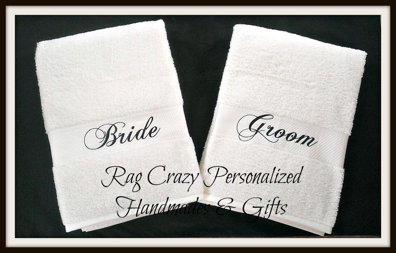 Bride & Groom Bath Sheets - Pima Cotton