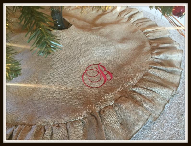 Handmade Burlap Christmas Tree Skirt