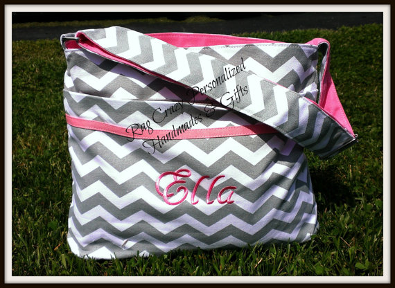Chevron Diaper Bag