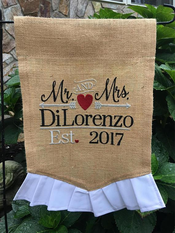 Wedding Garden Flag
