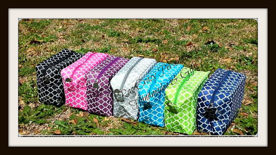 Quatrefoil Make Up Bags