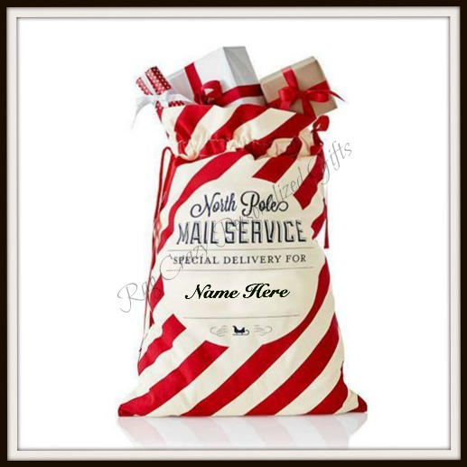 Candy Cane Stripped Santa Sack