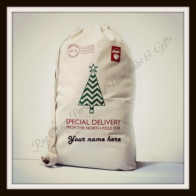 Personalized Jumbo Santa Sacks